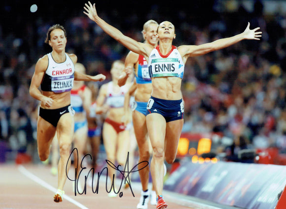 Dame Jessica Ennis Hill - Olympic Champion - 16 x 12 Autographed Picture