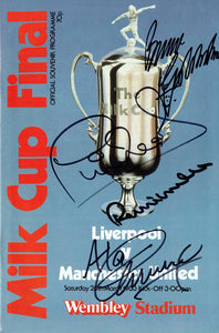 Manchester United v Liverpool - 1983 League Cup Final Programme