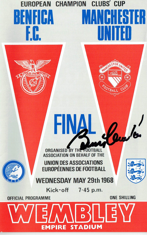 Manchester United v Benfica - Signed 1968 European Cup Final Programme