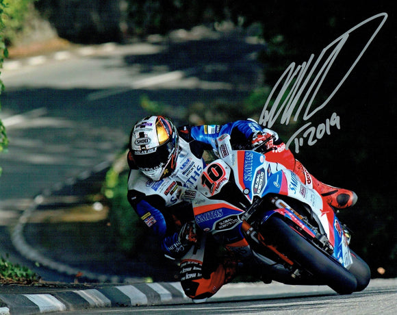 Peter Hickman - Greeba Castle - TT 2019 - 16 x 12 Autographed Picture