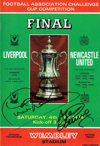 Liverpool F.C v Newcastle United F.C - 1974 F.A. Cup Final Programme