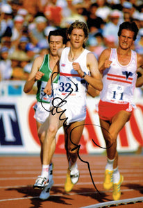 Steve Cram - Olympic Champion - 10 x 8 Autographed Picture