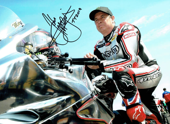 John McGuinness - Startline - TT 2019 - 10 x 8 Inch Autographed Picture