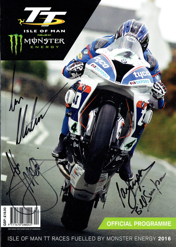 2016 Isle of Man TT Multi Signed Programme (2)
