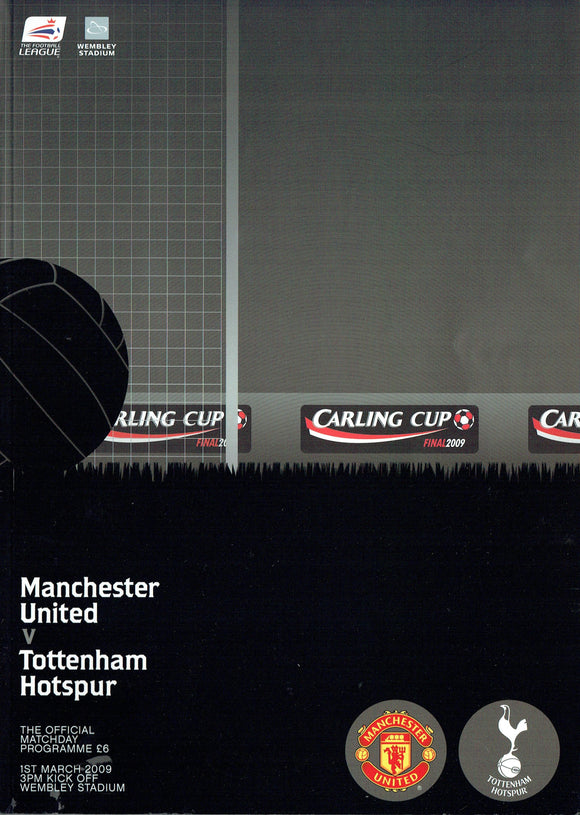 Manchester United v Tottenham Hotspur - 2009 Carling Cup Final Programme