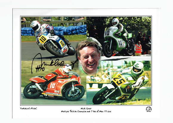 Mick Grant - TT 2006 Montage - 16 x 12 Mounted Autographed Print