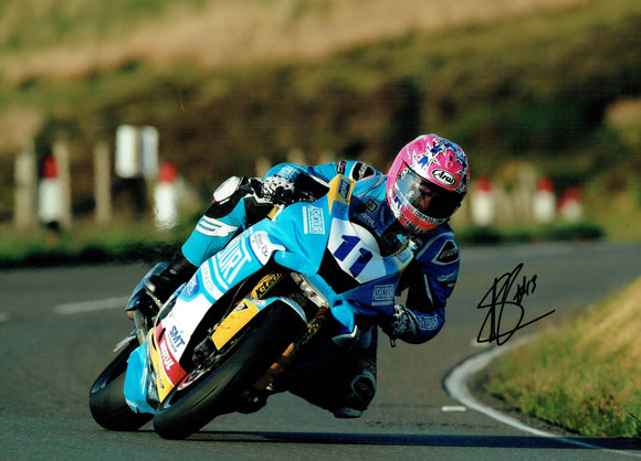 Lee Johnston - Mountain - TT 2019 - 16 x 12 Autographed Picture