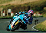 Lee Johnston - Mountain - TT 2019 - 10 x 8 Autographed Picture