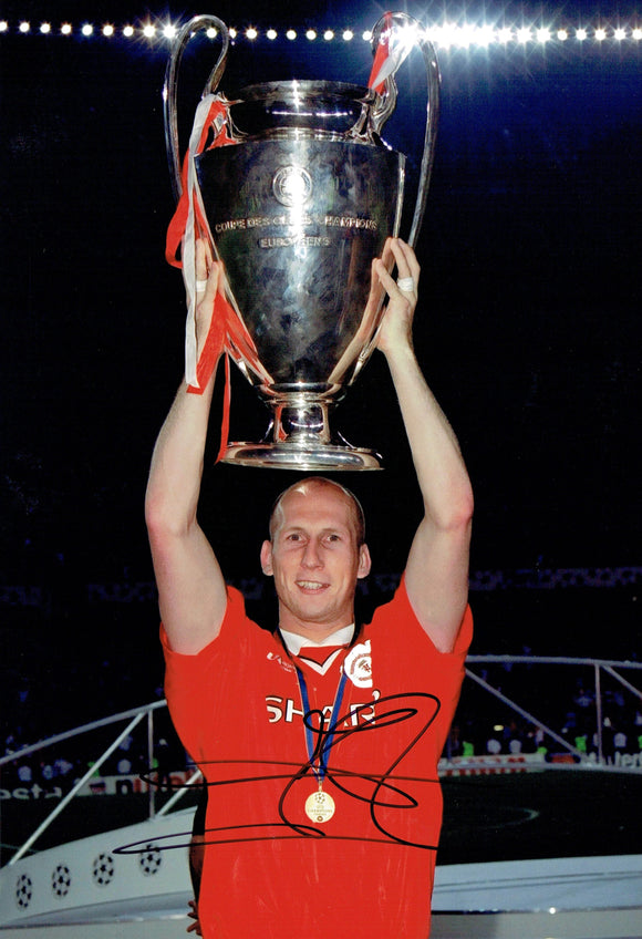 Japp Stam - Manchester United - Moscow 2008 - 12 x 8 Autographed Picture