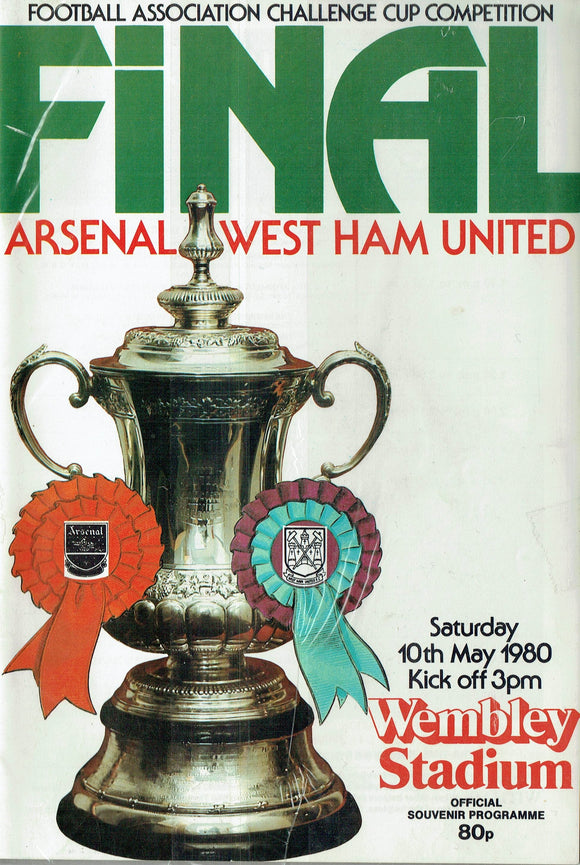 West Ham United v Arsenal - 1980 F.A. Cup Final Programme