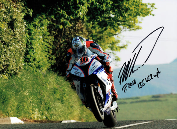 Peter Hickman - Lambfell - TT 2018 - 10 x 8 Autographed Picture