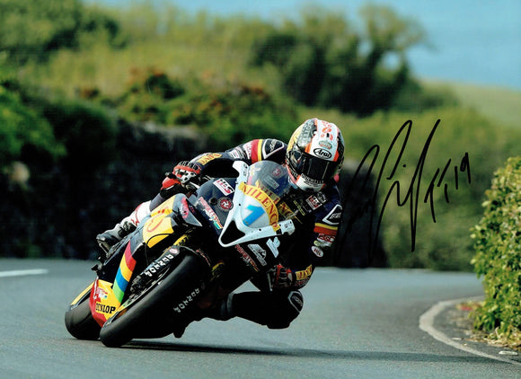 Conor Cummins - Waterworks - TT 2019 - 10 x 8 Autographed Picture