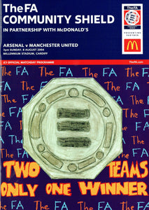 Manchester United v Arsenal - 2004 Charity Shield Programme