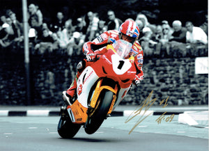 Gary Johnson - St Ninians - TT 2009 - 16 x 12 Autographed Picture