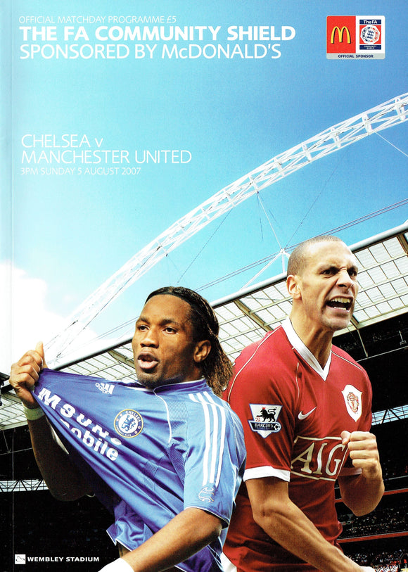 Manchester United v Chelsea - 2007 Charity Shield Programme
