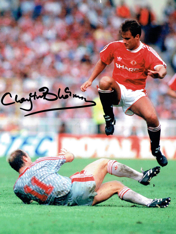 Clayton Blackmore - Manchetser United - 10 x 8 Autographed Picture