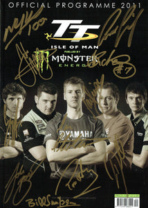 2011 Isle of Man TT Multi Signed Programme