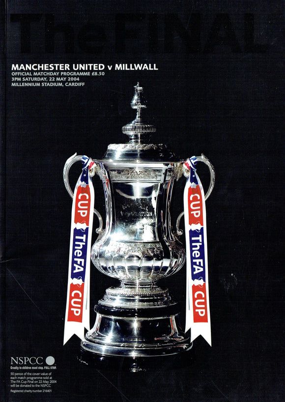 Manchester United v Millwal 2004 F.A.Cup Final Programme