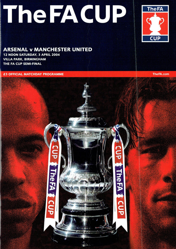 Manchester United v Arsenal - 2004 F.A. Cup Final Programme