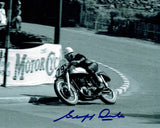Geoff Duke - Quarter Bridge - No 79 - 10 x 8 Autographed Picture