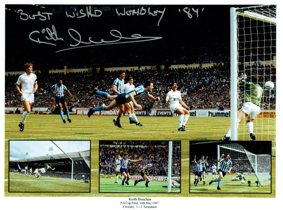 Keith Houchen - Coventry City F.C. - 1989  F.A.Cup Final - 16 x 12 Autographed Picture