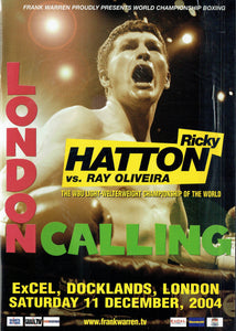 "Ricky ""The Hitman"" Hatton v Ray Oliveira Fight Programme"