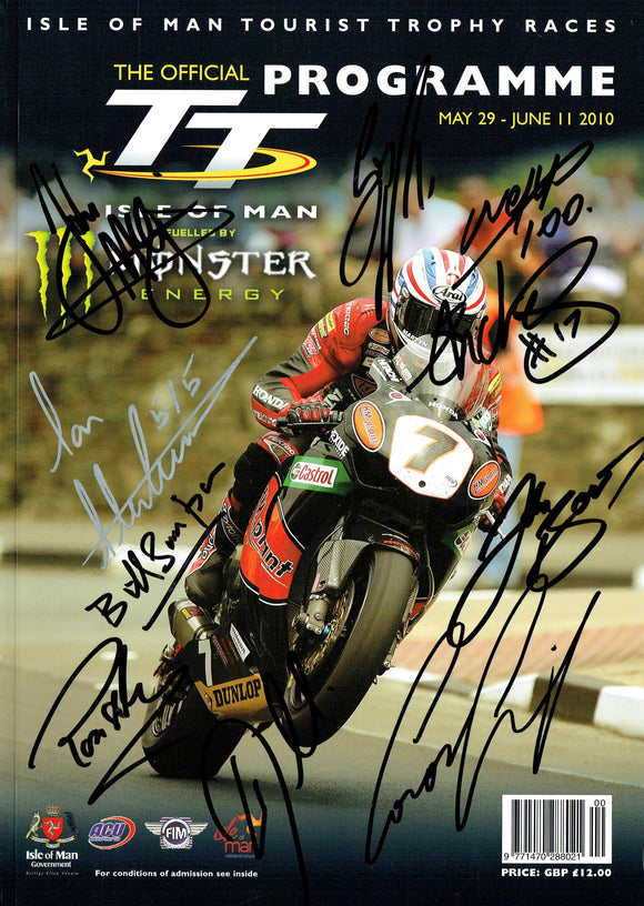 2010 Isle of Man TT Multi Signed Programme (1)