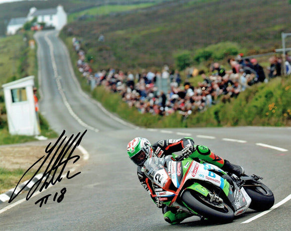 James Hillier - Creg Ny Baa - TT 2018 - 16 x 12 Autographed Picture