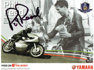 Phil Read - Yamaha 50 Years - 6 x 4 Autographed Postcard