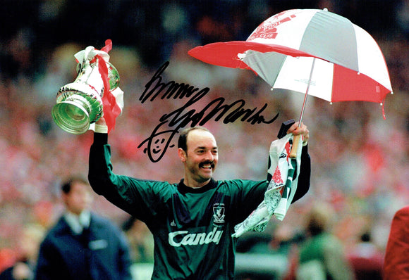Bruce Grobbelaar - Liverpool - 1992 F.A.Cup Winner - 12 x 8 Autographed Picture