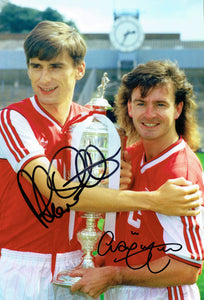 Alan Smith & Charlie Nicholas - Arsenal - 12 x 8 Autographed Picture