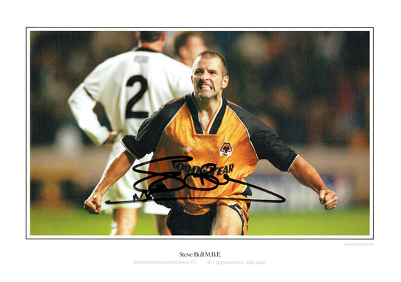 Steve Bull - Wolves - 16 - 12 Autographed Picture