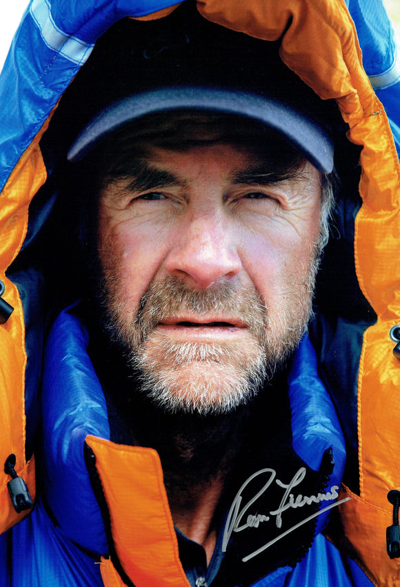 Sir Ranulph Fiennes - Everest 4 - 12 x 8 Autographed Picture
