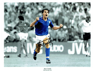 Tradelli - Italy - World Cup Winner - 16 x 12 Autographed Picture