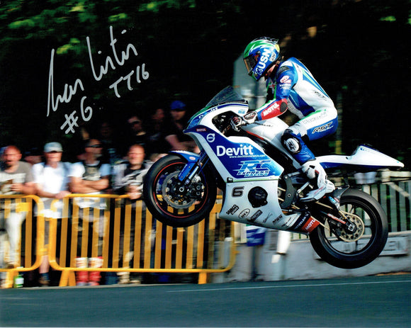 Ivan Linton - Ballaugh Bridge - TT 2016 - 16 x 12 Autographed Picture