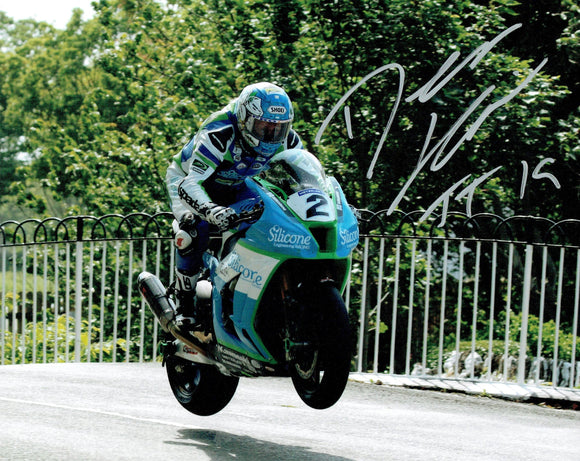 Dean Harrison - Ballaugh Bridge - TT 2019 - 10 x 8 Autographed Picture