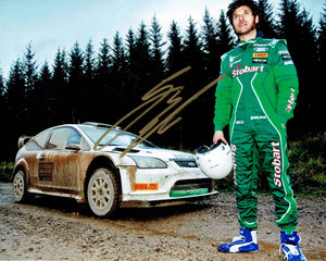 Guy Martin - Rally - Eddie Stobart - 10 x 8 Autographed Picture