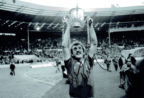 Alan Kennedy - Liverpool - 1981 League Cup Final 12 x 8 Autographed Picture