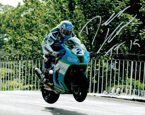 Dean Harrison - Ballaugh Bridge - TT 2019 - 16 x 12 Autographed Picture