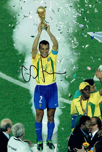 Cafu - Brazil - World Cup Winner - 12 x 8 Autographed Picture