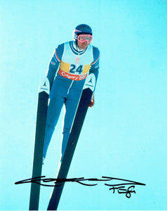 "Eddie ""The Eagle"" Edwards - Olympic Ski Jumper - 10 x 8 Autographed Picture"