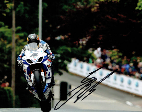 Guy Martin - Agos Leap - TT 2014 - 10 x 8 Autographed Picture