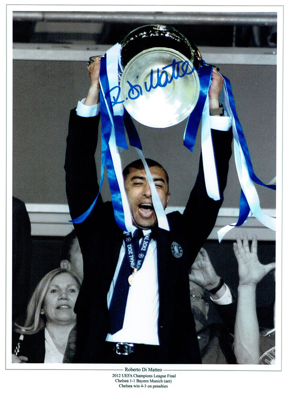 Di Matteo - Chelsea - 16 x 12 Autographed Picture