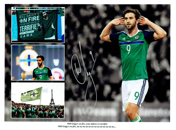 Will Crigg - Northern Ireland - Euro 2016 - 16 x 12 Autographed Picture