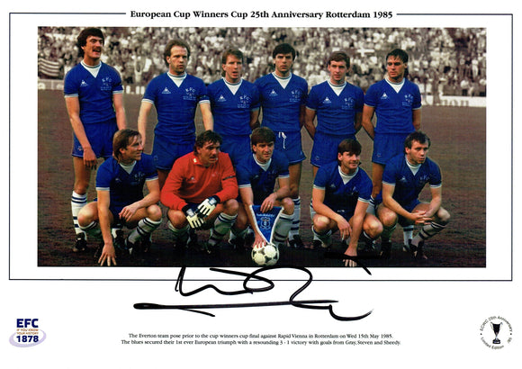 Kevin Ratcliffe - Everton F.C.  - European Cup Winners Cup Final - 11.75 x 8.25 Autographed Print