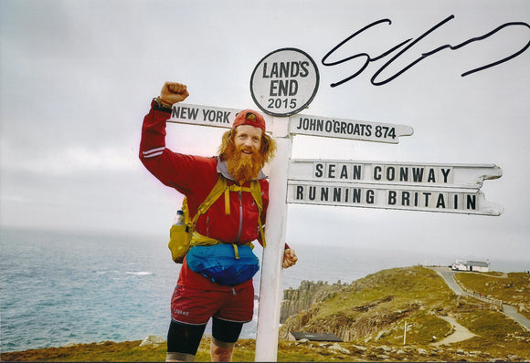 Sean Conway - Lands End - 16 x 12 Autographed Picture