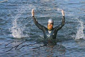 Sean Conway - Round Britian Swim - 10 x 8 Autographed Picture