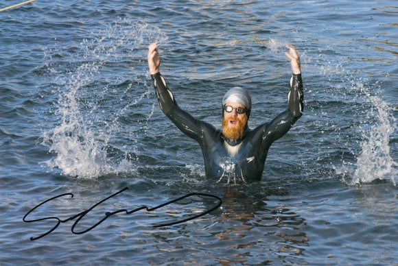 Sean Conway - Round Britian Swim - 16 x 12 Autographed Picture