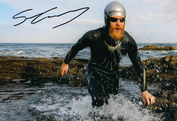 Sean Conway - Round Britain Swim - 16 x 12 Autographed Picture
