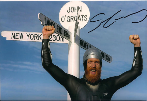 Sean Conway - John O'Groats - 10 x 8 Autographed Picture